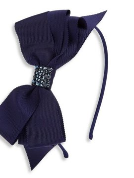 Bari Lynn Headband - Fancy X-Large Grosgrain - Navy