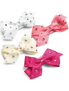 Bari Lynn Crystallized Grosgrain Bow