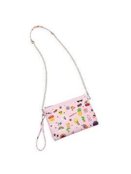Bari Lynn Emoji Crossbody - Pink