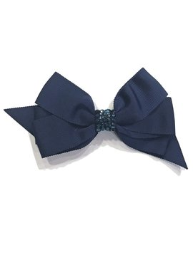 Bari Lynn Fancy X-Large Bow - Navy