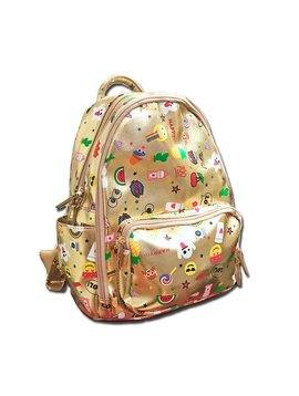 Bari Lynn Emoji Backpack - Gold