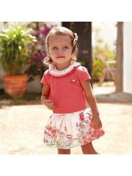 Mayoral Apricot Skirt Set