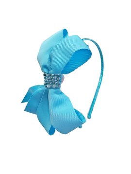 Bari Lynn Headband - Fancy X-Large Grosgrain - Blue