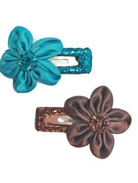 Survolte Flower Rhinestone Snap Clip