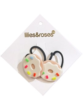 Lilies and Roses Ponytail - Donuts - Beige