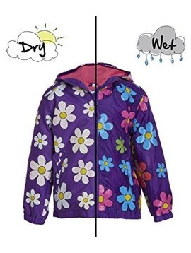 Holly and Beau Purple Flower Rain Jacket