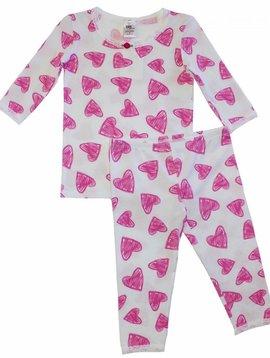 Esme Loungewear Hearts 3/4 Sleeve Pajama