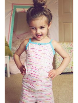 Esme Loungewear Rainbow Zebra Camisole Short Set