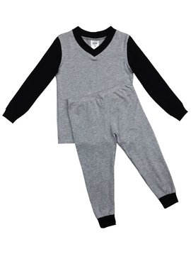 Esme Loungewear Grey Black Long Sleeve Pajama