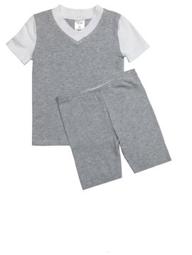 Esme Loungewear Grey White Short Sleeve Pajama