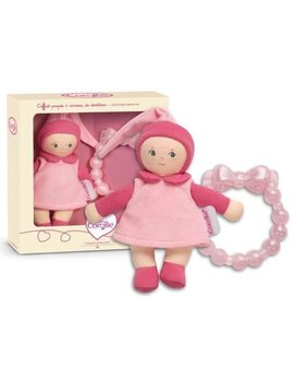 Corolle Dolls Anneeau Rose w Teether