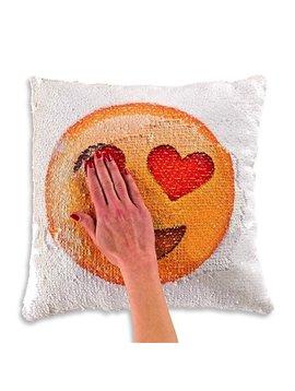 Top Trenz Flipping Sequin Emoji Pillow