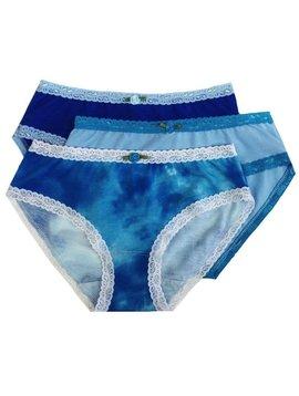 Esme Loungewear Panty 3-pack - Blue Lagoon