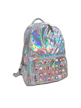 Bari Lynn Studded Hologram Backpack
