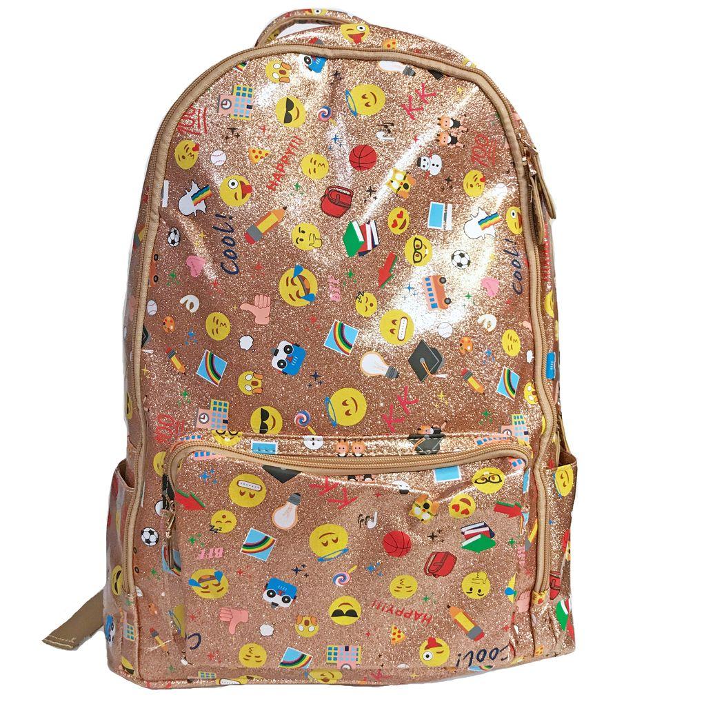 Bari Lynn Emoji School Backpack