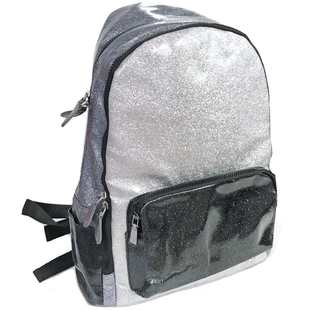 Bari Lynn Glitter School Backpack