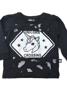 Plastic Jus Unicorn Sign Hologram Cut Sweater