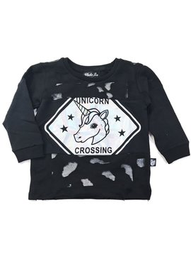 Plastic Jus Unicorn Sign Hologram Cut Sweater