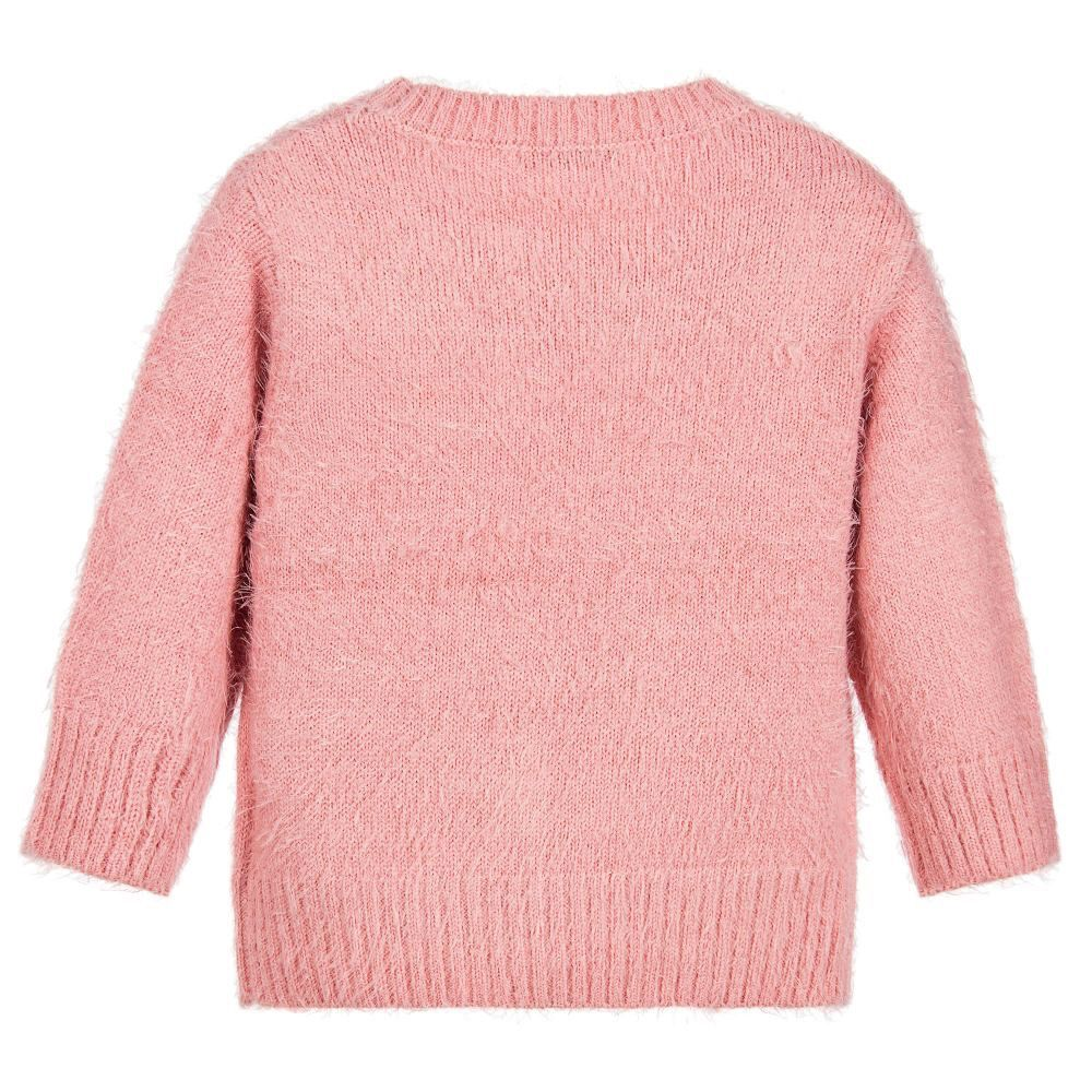 Mayoral Pink Fluffy Knit Sweater - Pumpkin and Bean
