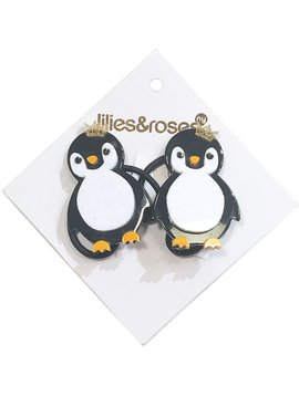 Lilies and Roses Ponytail - Penguin