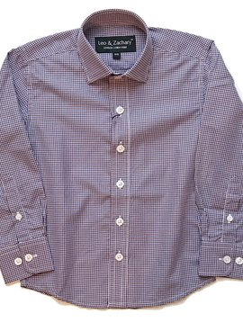 Leo & Zachary Plaid Dress Shirt