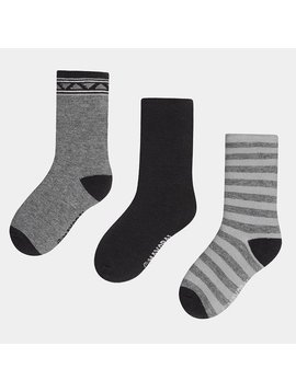 Mayoral 3pk Socks - Steel