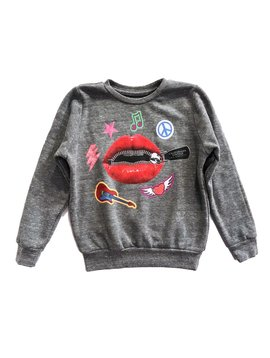 Californian Vintage Zipper Lips Sweatshirt