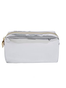 Stoney Clover Lane Silver Patent Pouch