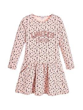 3pommes & B-Karo Pink Print Jersey Dress
