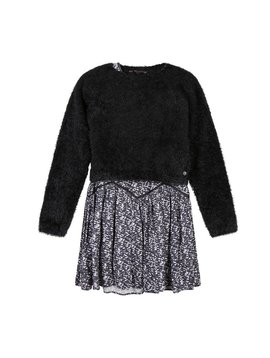 3pommes & B-Karo Print Dress w Sweater