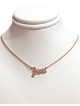 BRIATI Gothic Nameplate Necklace