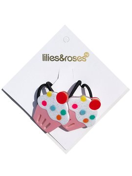 Lilies and Roses Ponytail - Pink Cupcake
