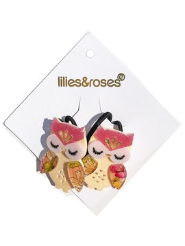 Lilies and Roses Ponytail - Owl