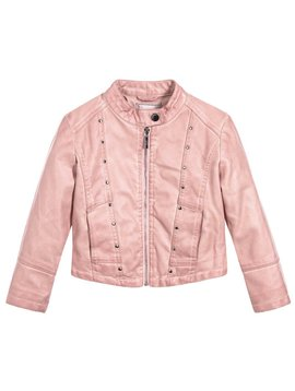 Mayoral Faux Leather Jacket - Pink