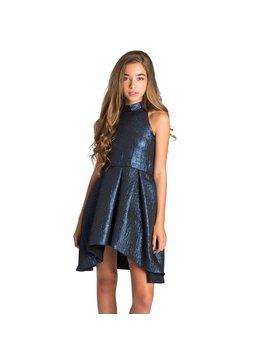 Zoe Ltd Metallic Hi-Lo Dress