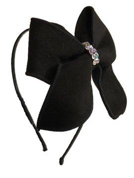 Bari Lynn Large Suede Bow Headband