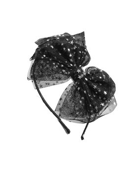 Bari Lynn Star Tulle Bow Headband