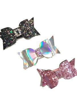 Bari Lynn Hologram/ Glitter Bow Clip