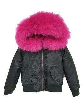 Survolte Kids Fur Bomber Jacket