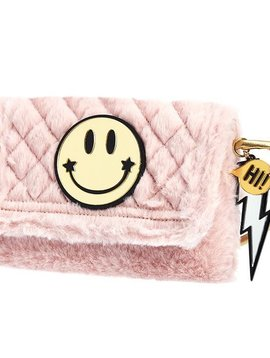ooahooah Faux Fur Smiley Purse