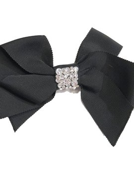 Bari Lynn Fancy X-Large Bow - Black