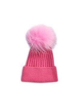 Survolte Pom pom Angora Hat