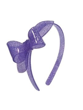 Lilies and Roses Rosane Headband - Glitter Purple