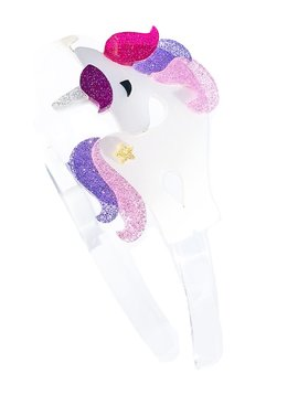 Lilies and Roses Headband - Unicorn Glitter