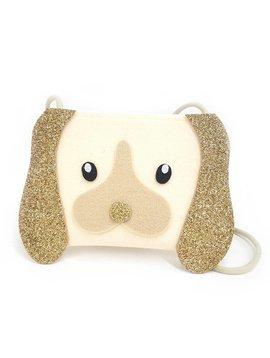 ooahooah Gold Glitter Puppy Purse
