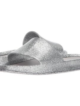 Mini Melissa Mel Beach Slide - Silver Glass