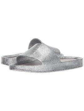 Mini Melissa Mel Beach Slide - Silver Glass