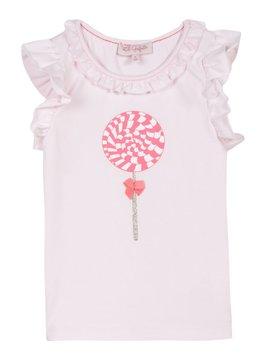 Lili Gaufrette Pink Ruffle Lollipop Top