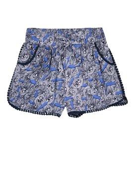 3pommes & B-Karo Blue Print Viscose Short