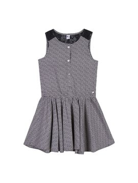 3pommes & B-Karo Grey Polka Dot Dress